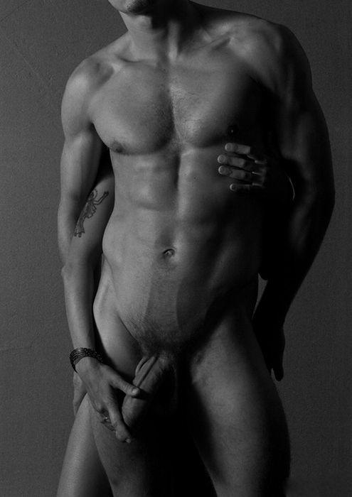 free hair long man naked photo